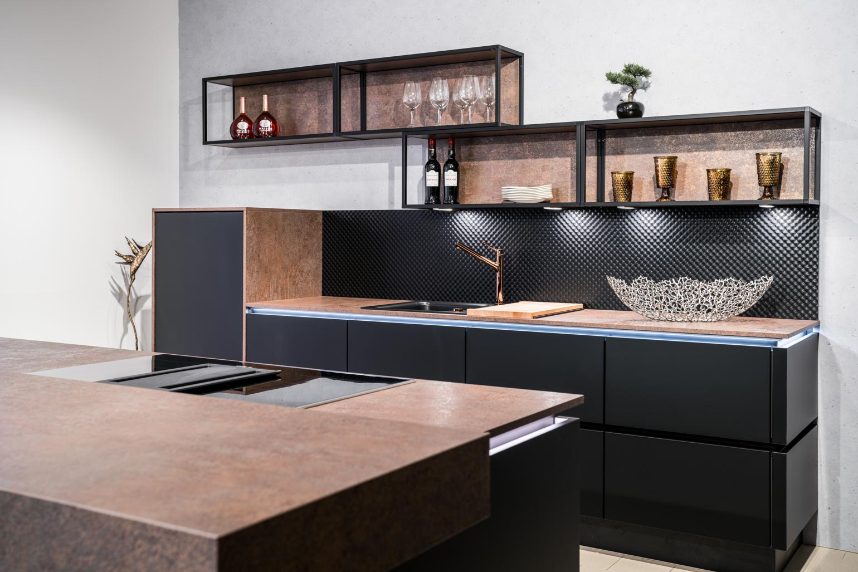 Weisser Küchenstudio Showroom moderne Küche